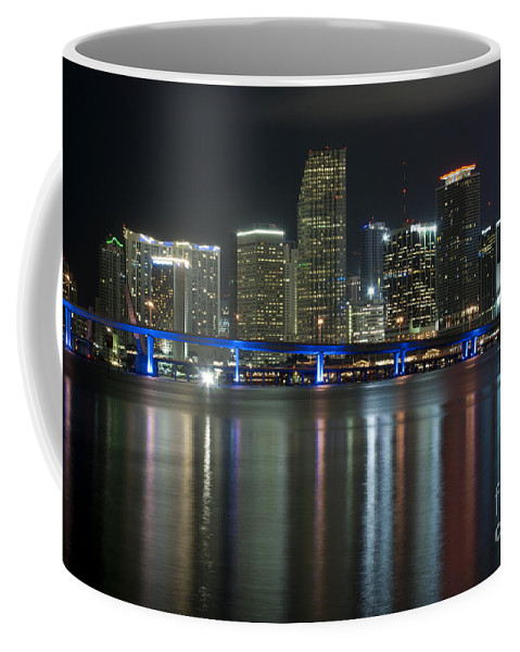 America Coffee Mug featuring the photograph Miami At Night by Anthony Totah