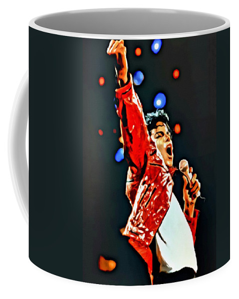 King Coffee Mug featuring the painting Michael by Florian Rodarte