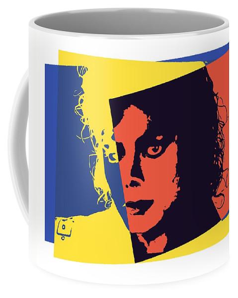 Michael Jackson Pop Art Coffee Mug featuring the digital art Michael Jackson Pop Art by Dan Sproul