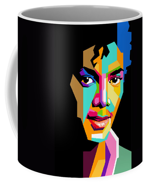 Digital Art Coffee Mug featuring the digital art Michael Jackson young by Ahmad Nusyirwan
