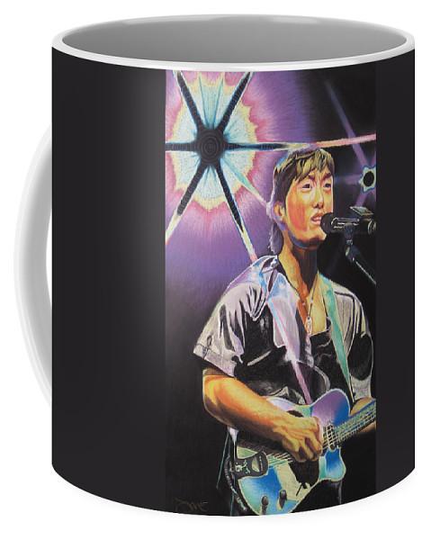 Michael Kang Coffee Mug featuring the drawing Micheal Kang by Joshua Morton