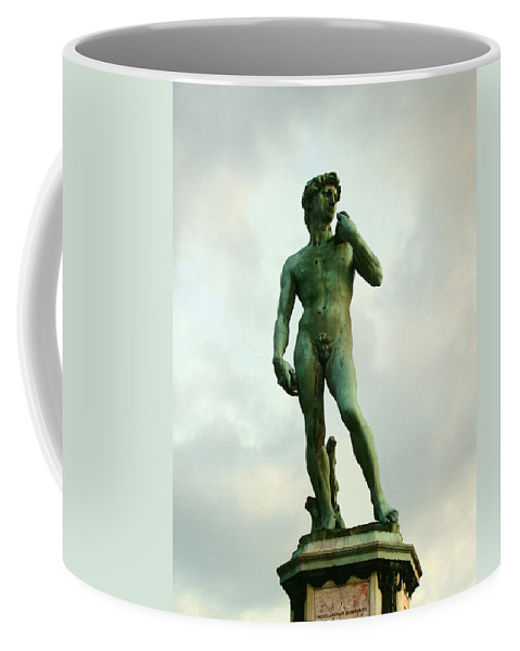 Michelangelos David Coffee Mug featuring the photograph Michelangelo's David 2 by Ellen Henneke