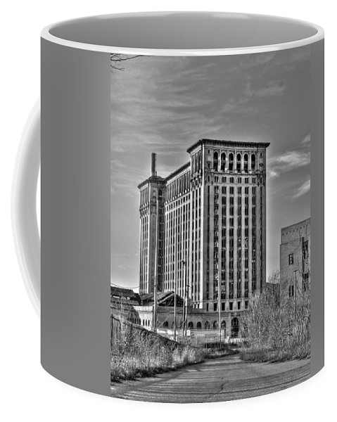 Michigan Central Coffee Mug featuring the photograph Michigan Central Station by Nicholas Grunas