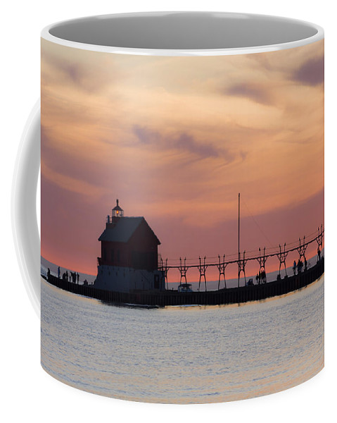 3scape Coffee Mug featuring the photograph Michigan Sunset by Adam Romanowicz