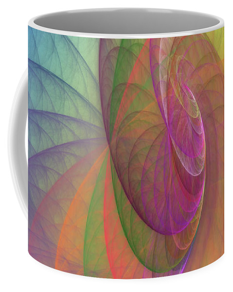 Fractal Coffee Mug featuring the digital art Mid-afternoon Rest by Angela Stanton