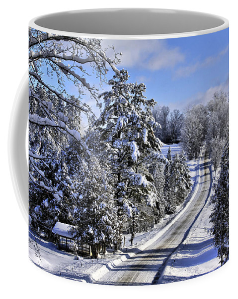 Landscape Coffee Mug featuring the photograph Middle Road Franklin by Deborah Benoit