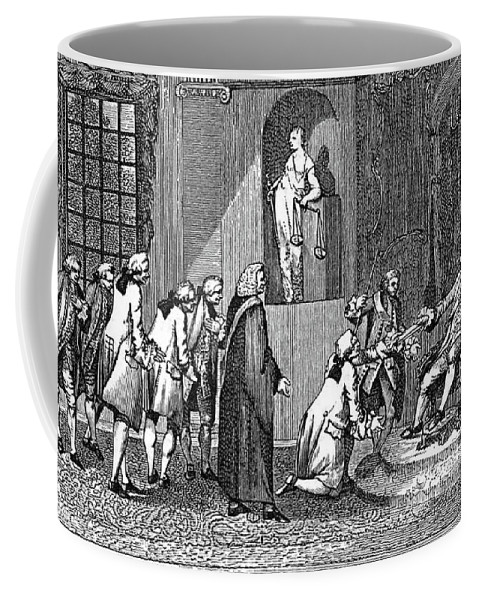 1769 Coffee Mug featuring the painting Middlesex Petition, 1769 by Granger