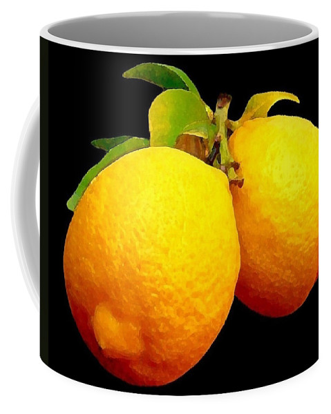 Fruit Coffee Mug featuring the photograph Midnight Lemons by Ben and Raisa Gertsberg