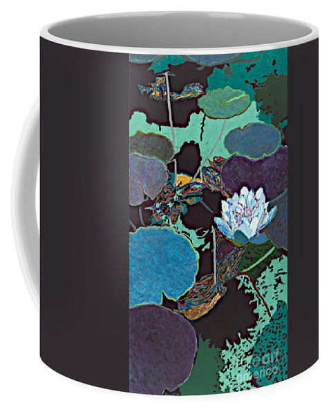 Landscape Coffee Mug featuring the painting Midnight Moonglow by Allan P Friedlander