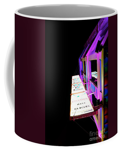 Sign Coffee Mug featuring the photograph Midnight Perspective by Jacqueline Athmann