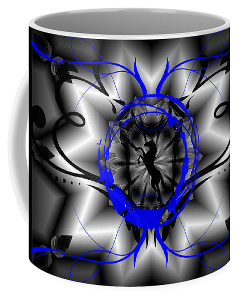 Midnight Coffee Mug featuring the digital art Midnight Rider by Michael Damiani