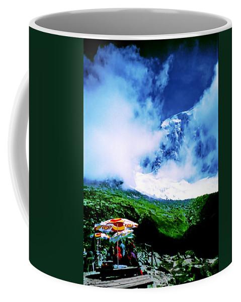Digital Photo Coffee Mug featuring the digital art Le Milieu De Mont Blanc  by Tim Richards