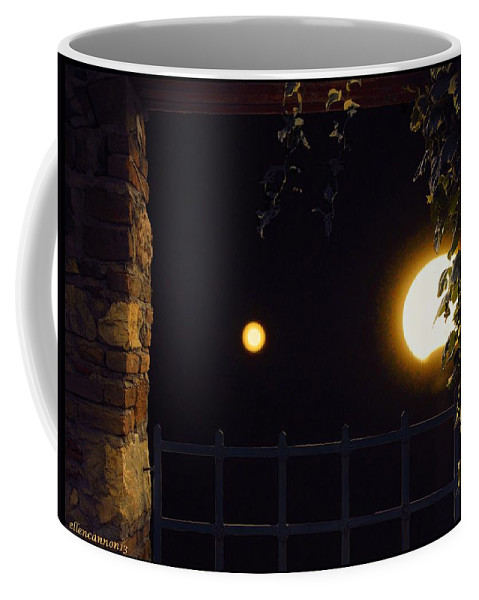 Nature Coffee Mug featuring the photograph Midwest Blue Moon by Ellen Cannon