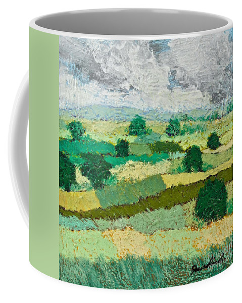 Landscape Coffee Mug featuring the painting Mild Valley by Allan P Friedlander