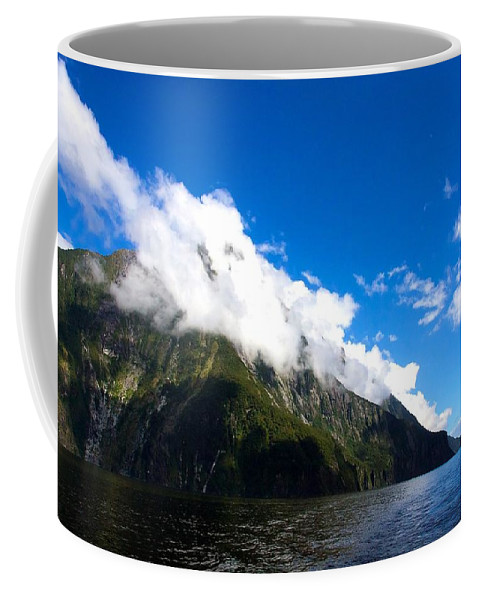 New Zealand Coffee Mug featuring the photograph Milford Sound #2 by Stuart Litoff