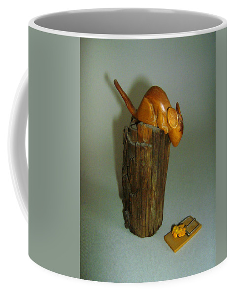 Mouse Coffee Mug featuring the photograph Mouse Trap by Lovina Wright