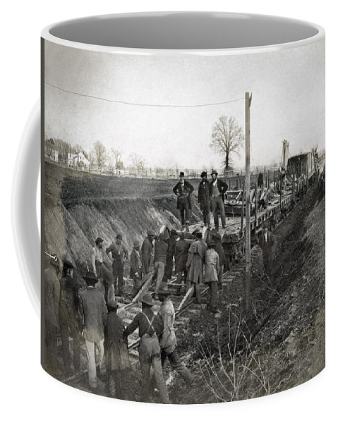 1863 Coffee Mug featuring the photograph Military Railway, C1863 by Granger