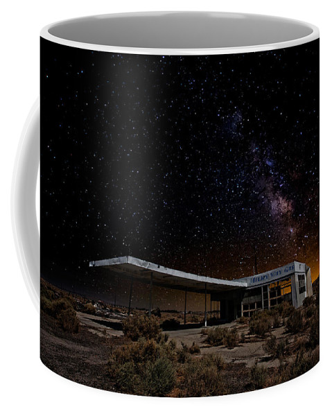 Gas Stations Coffee Mug featuring the photograph Milky Way Gas by Peter Tellone