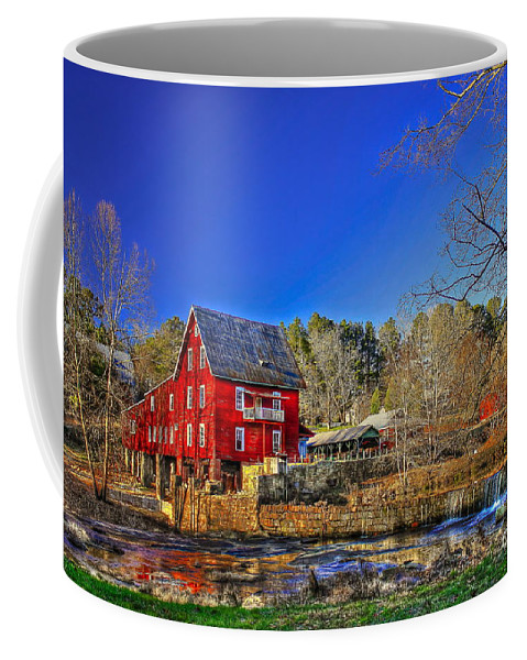Reid Callaway Mill More Mill Coffee Mug featuring the photograph Historic Millmore Mill Shoulder Bone Creek by Reid Callaway