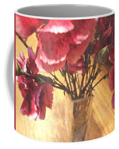 Mini Carnations Coffee Mug featuring the photograph Mini Carnation Bouquet by Annie Adkins