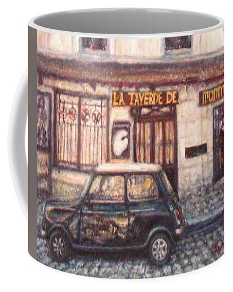 Quin Sweetman Coffee Mug featuring the painting Mini De Montmartre by Quin Sweetman