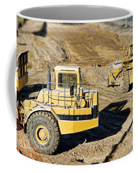 Bulldozer Coffee Mug featuring the photograph Miniature Construction Site by Olivier Le Queinec