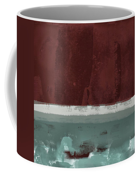 Red Coffee Mug featuring the painting Minima - Brg01dd by Variance Collections