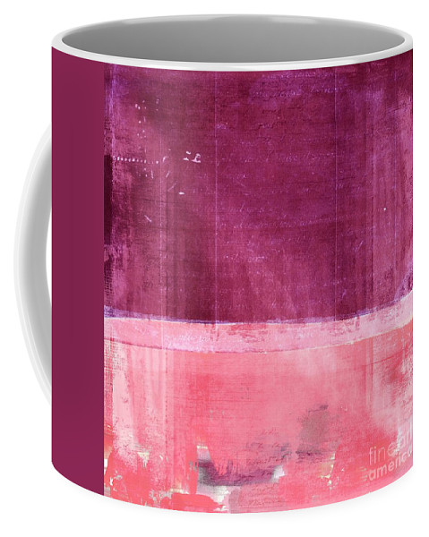Pink Coffee Mug featuring the painting Minima - S02b Pink by Variance Collections