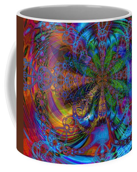 Mirage Coffee Mug featuring the digital art Mirage by Kiki Art