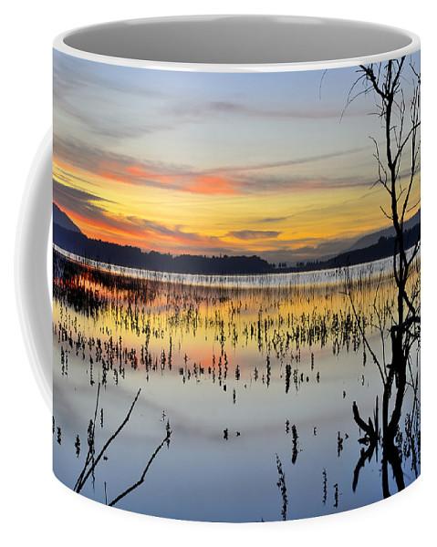Sunrise Coffee Mug featuring the photograph Mirror Lake by Guido Montanes Castillo