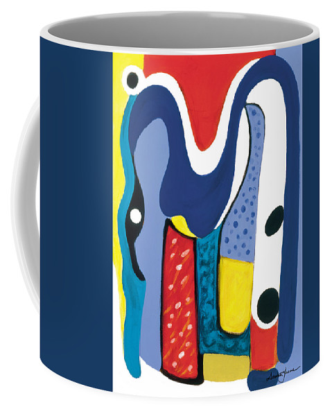 Abstract Art Coffee Mug featuring the painting Mirror Of Me 1 by Stephen Lucas