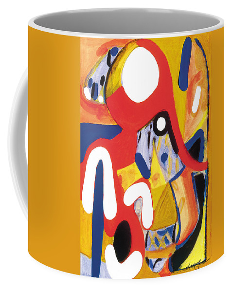 Abstract Art Coffee Mug featuring the painting Mirror Of Me 2 by Stephen Lucas