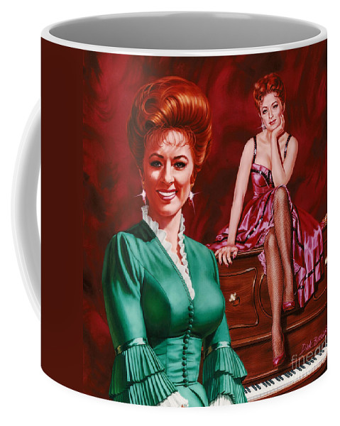 Portrait Coffee Mug featuring the painting Miss Kitty by Dick Bobnick