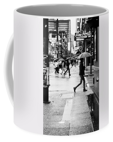 Street Photography Coffee Mug featuring the photograph Missed Coffee by The Artist Project