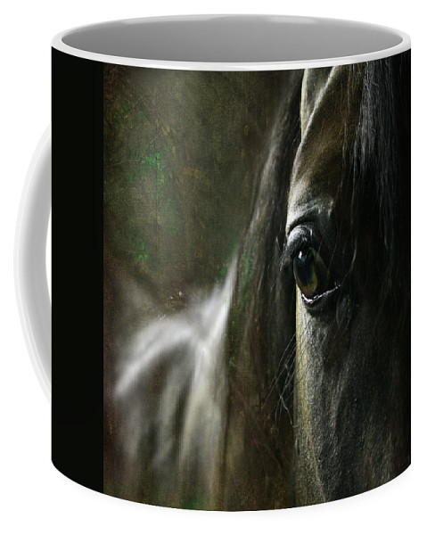 Horse Coffee Mug featuring the photograph Missing Old Good Days by Angel Ciesniarska