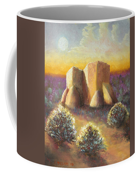 Landscape Coffee Mug featuring the painting Mission Imagined by Jerry McElroy