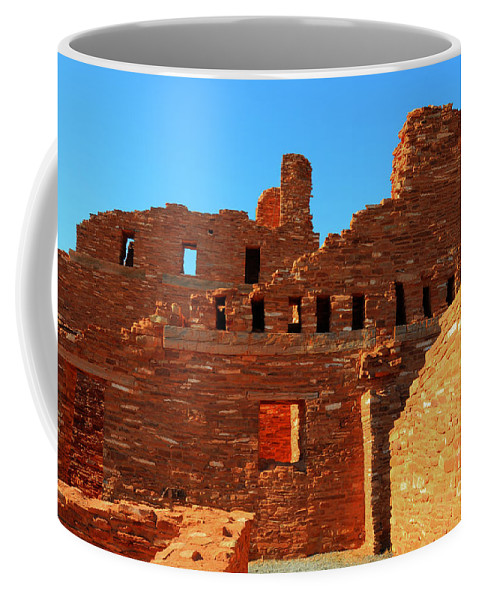 Salinas Pueblo Missions National Monument Coffee Mug featuring the photograph Mission Ruins At Abo by Vivian Christopher