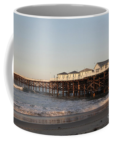 Mission Beach Coffee Mug featuring the photograph Misson Beach by Diane Greco-Lesser