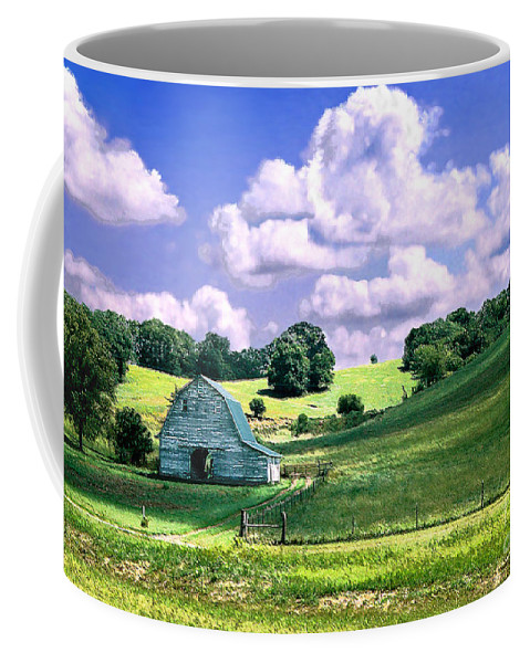 Landscape Coffee Mug featuring the photograph Missouri River Valley by Steve Karol