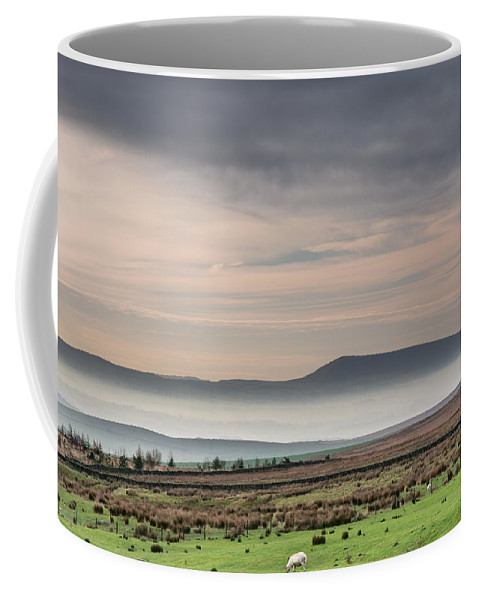 British Coffee Mug featuring the photograph Mist In The Valley by David Head