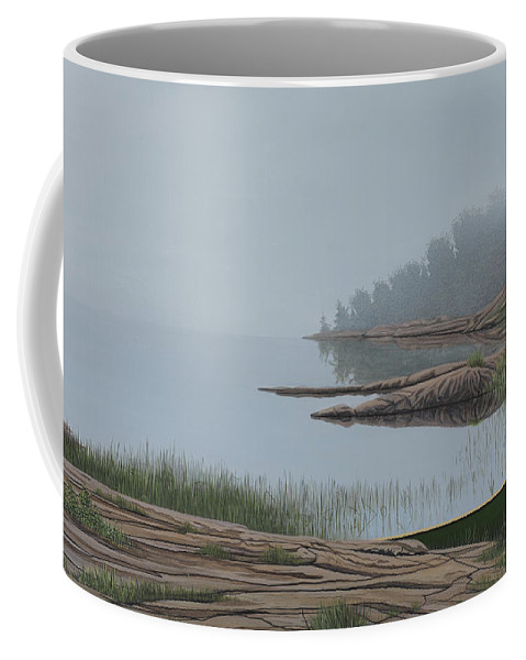 Landscapes Coffee Mug featuring the painting Mistified by Kenneth M Kirsch