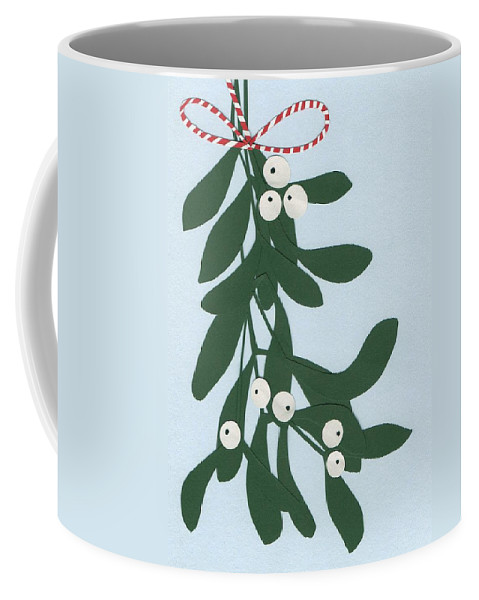 Mistletoe Coffee Mug featuring the painting Mistletoe by Isobel Barber