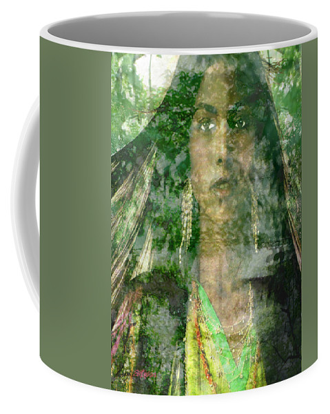 American Indian Coffee Mug featuring the digital art Mistress Of The Wind by Seth Weaver