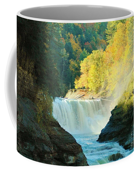Letchworth Coffee Mug featuring the photograph Misty 2 by Kathleen Struckle