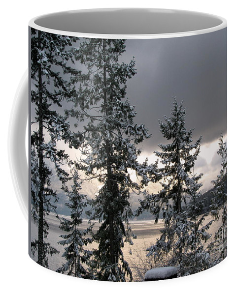 Kootenay Coffee Mug featuring the photograph Misty Blue by Leone Lund
