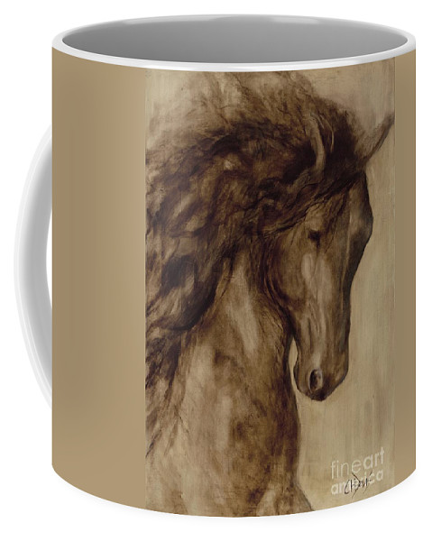 Horse Coffee Mug featuring the painting Misty by Catherine Davis