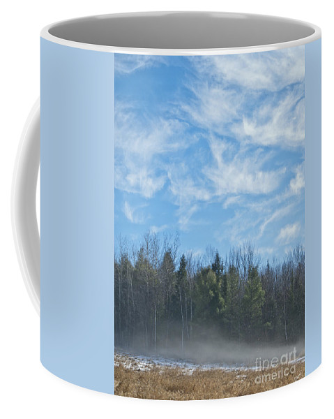 Fog Coffee Mug featuring the photograph Misty Landscape by Alana Ranney