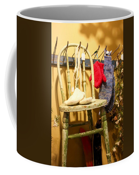 Mittens Coffee Mug featuring the photograph Mittens by Cynthia Woods