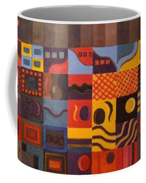 Emotions Coffee Mug featuring the painting Mixed Emotions by Leslye Miller