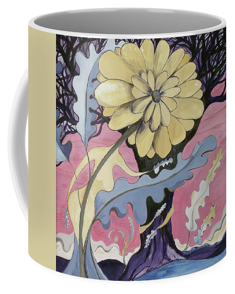 Flower.surreal Coffee Mug featuring the painting Miz Fleur by Sue Wright